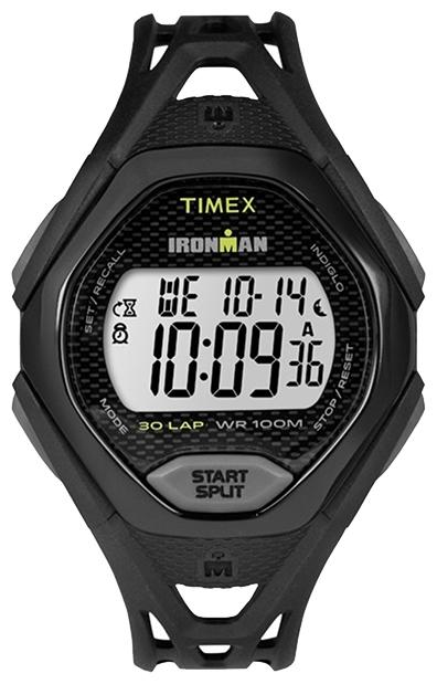 Наручные часы Timex Ironman, цвет: черный. TW5M10400BM8434-58AEКорпус 42 мм черн. цв. из закаленной резины; электронный циферблат; хезалитовое стекло; будильник; секундомер с памятью на 30 кругов/подходов; таймер обратного отсчета; подсветка INDIGLO с ночным режимом; водозащита 10 ATM