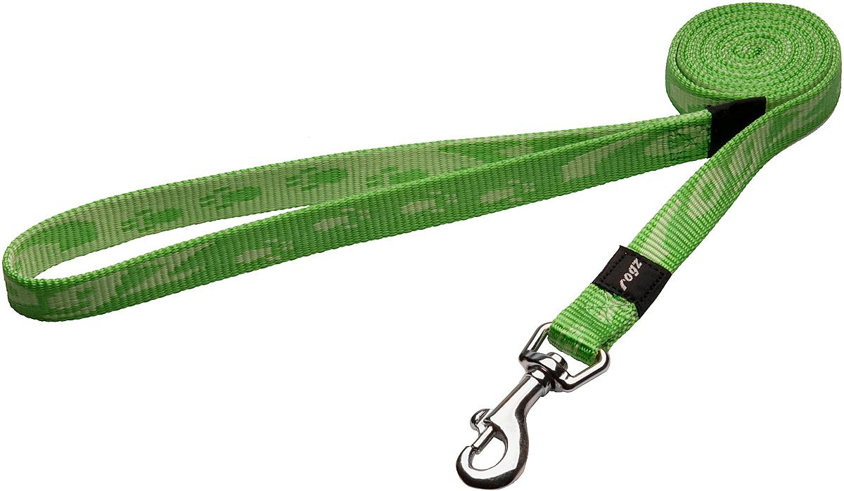 Поводок для собак Rogz Alpinist, цвет: зеленый, ширина 1,6 см. Размер M0120710Особо мягкая, но очень прочная лента обеспечит безопасность на прогулке даже самым активным собакам.Все соединения деталей имеют специальную дополнительную строчку для большей прочности.Выполненые специально по заказу ROGZ литые кольца гальванически хромированы, что позволяет избежать коррозии и потускнения изделия. Полотно: нейлоновая тесьма. Пряжки: ацетиловый пластик. Кольца: цинковое литье.