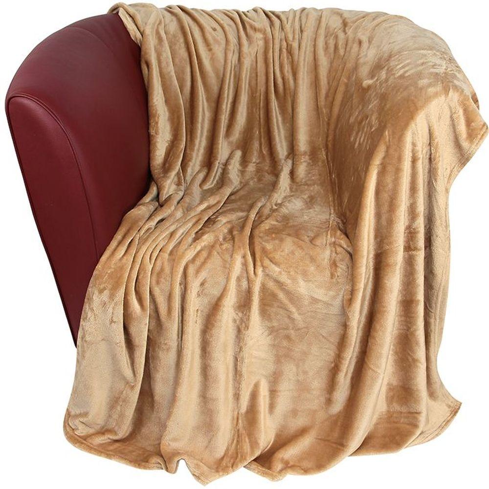 Плед EL Casa, цвет: карамельный, 200 х 230 см12245Уютный, легкий и прочный плед в оригинальном дизайне послужит украшением декора вашей комнаты и согреет вас и ваших близких. Устойчив к истиранию и скатыванию, не мнется, не деформируется, сохранит первоначальный вид даже при активном использовании и многочисленных стирках. Такой плед идеален в качестве подарка на любой праздник. Изделие в подарочной сумке с ручками.