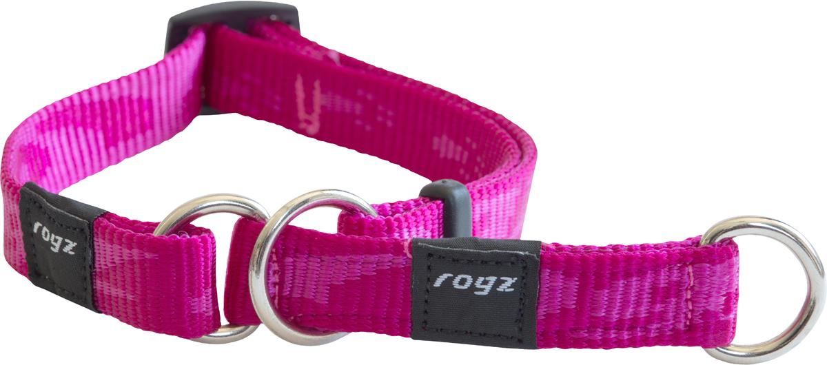Полуудавка для собак Rogz Alpinist, цвет: розовый, ширина 1,6 см. Размер M0120710Мягкая лента. Высококачественные ленты ROGZ мягкие в руках, но обладают высокой прочностью. Особое плетение полотна способствует увеличению уровня прочности и защиты.Специальная конструкция пряжки Rog Loc - очень крепкая (система Fort Knox). Замок может быть расстегнут только рукой человека.Технология распределения нагрузки позволяет снизить нагрузку на пряжки, изготовленные из титанового пластика, с помощью правильного и разумного расположения грузовых колец.Особые контурные пластиковые компоненты. Специальная округлая форма конструкции позволяет ошейнику комфортно облегать шею собаки.Выполненые специально по заказу ROGZ литые кольца гальванически хромированы, что позволяет избежать коррозии и потускнения изделия. Полотно: нейлоновая тесьма. Пряжки: ацетиловый пластик. Кольца: цинковое литье.