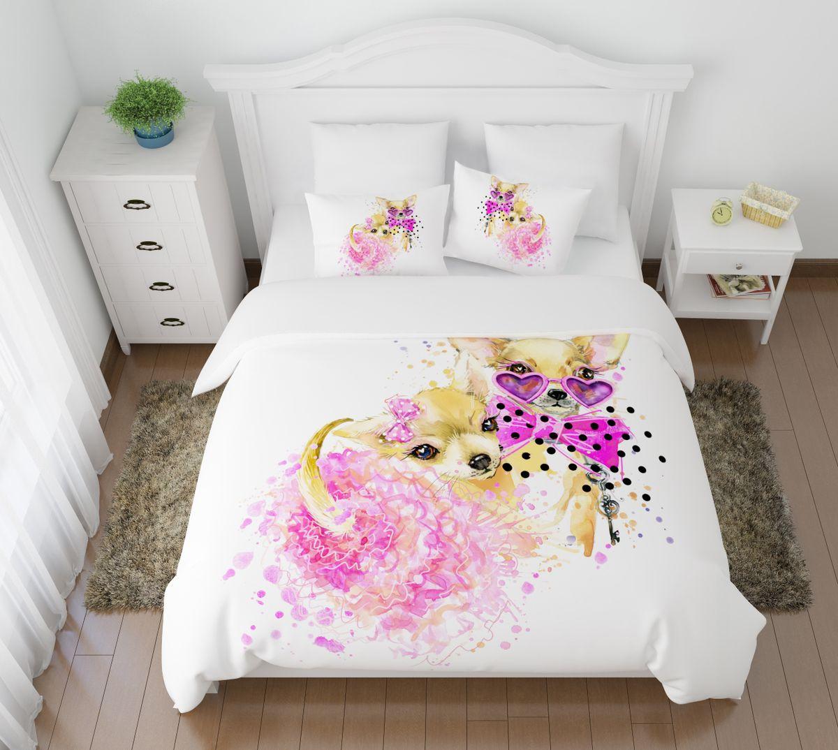 Комплект белья Сирень  Гламур, 2-спальный, наволочки 50х7010503Комплект постельного белья Сирень 2-х спальный выполнен из прочной и мягкой ткани. Четкий и стильный рисунок в сочетании с насыщенными красками делают комплект постельного белья неповторимой изюминкой любого интерьера. Постельное белье идеально подойдет для подарка. Идеальное соотношение смешенной ткани и гипоаллергенных красок это гарантия здорового, спокойного сна. Ткань хорошо впитывает влагу, надолго сохраняет яркость красок. Цвет простыни, пододеяльника, наволочки в комплектации может немного отличаться от представленного на фото.В комплект входят: простыня - 200х220см; пододельяник 175х210 см; наволочка - 50х70х2шт. Постельное белье легко стирать при 30-40 градусах, гладить при 150 градусах, не отбеливать.Рекомендуется перед первым изпользованием постирать.
