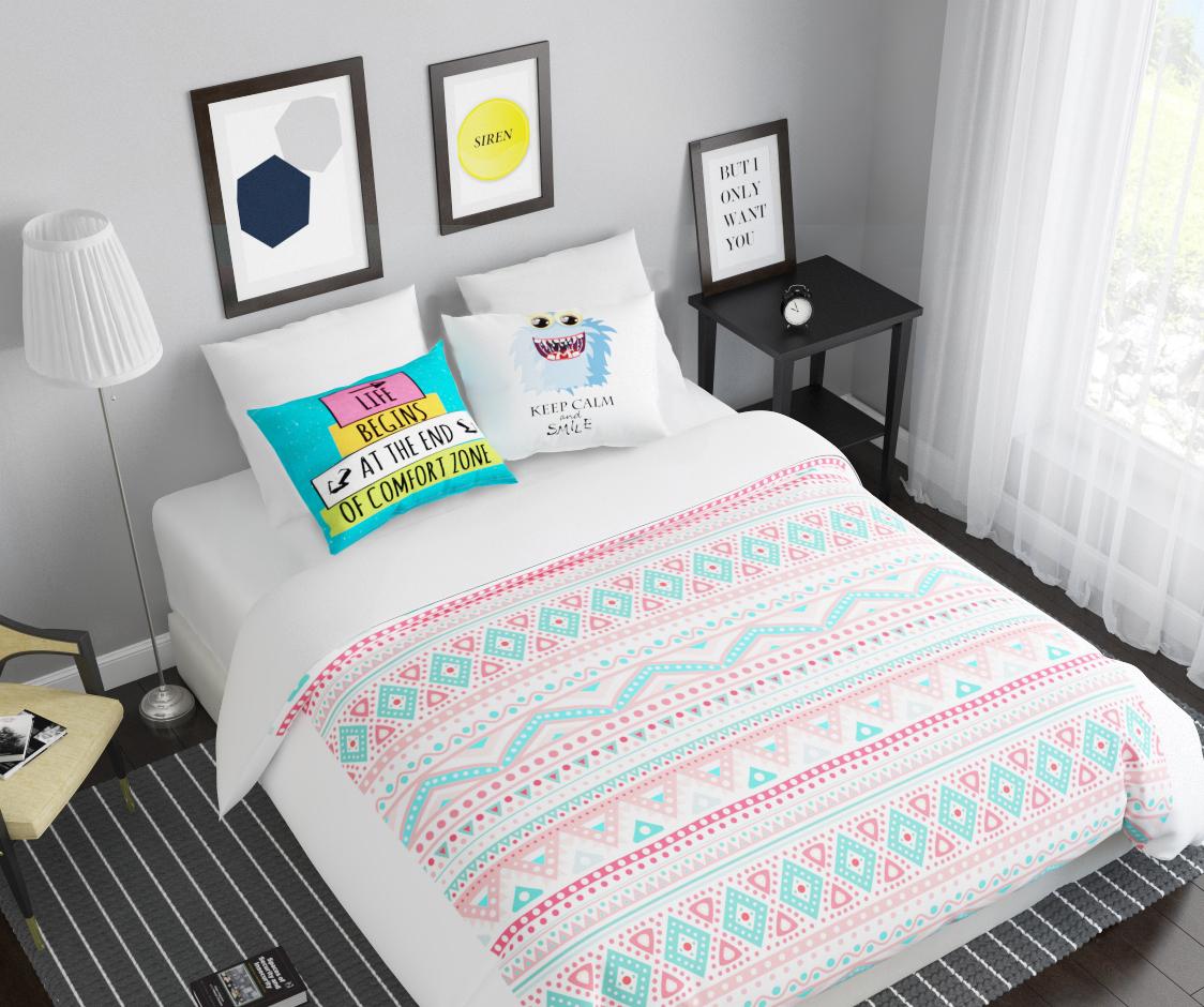 Комплект белья Сирень Монстр-smile, 2-спальный, наволочки 50х7010503Комплект постельного белья Сирень 2-х спальный выполнен из прочной и мягкой ткани. Четкий и стильный рисунок в сочетании с насыщенными красками делают комплект постельного белья неповторимой изюминкой любого интерьера. Постельное белье идеально подойдет для подарка. Идеальное соотношение смешенной ткани и гипоаллергенных красок это гарантия здорового, спокойного сна. Ткань хорошо впитывает влагу, надолго сохраняет яркость красок. Цвет простыни, пододеяльника, наволочки в комплектации может немного отличаться от представленного на фото.В комплект входят: простыня - 200х220см; пододельяник 175х210 см; наволочка - 50х70х2шт. Постельное белье легко стирать при 30-40 градусах, гладить при 150 градусах, не отбеливать.Рекомендуется перед первым изпользованием постирать.