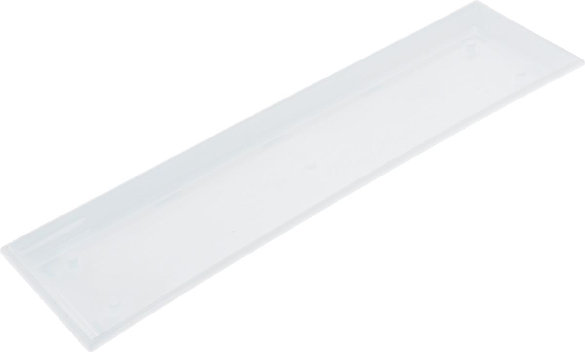 Поддон для балконного ящика Santino, цвет: белый, длина 55 см531-103Поддон для балконного ящика Santino выполнен из прочного цветного пластика. Изделие предназначено для стока воды.