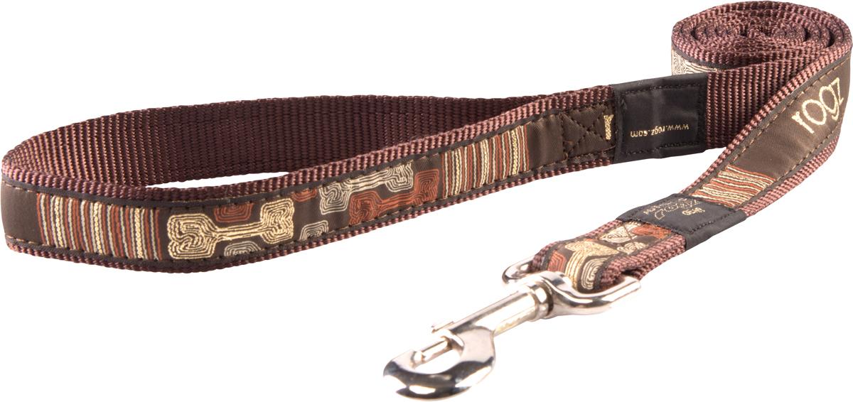 Поводок для собак Rogz Fancy Dress, ширина 2 см. Размер L. HL03CE0120710Необычный дизайн. Широкая гамма потрясающе красивых орнаментов на прочной тесьме поверх нейлоновой ленты украсит Вашего питомца.Необыкновенно крепкий и прочный поводок.Выполненные по заказу литые кольца выдерживают значительные физические нагрузки и имеют хромирование, нанесенное гальваническим способом, что позволяет избежать коррозии и потускнения изделия. Полотно: нейлоновая тесьма. Пряжки: ацетиловый пластик. Кольца: цинковое литье.