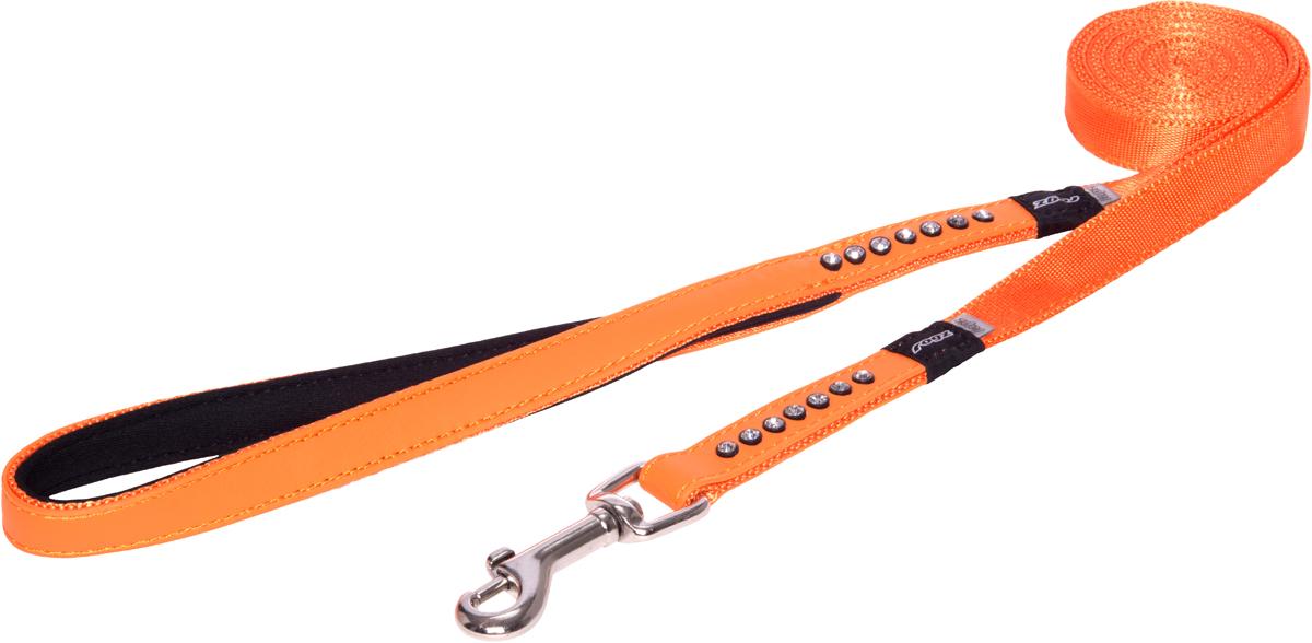 Поводок для собак Rogz Luna, удлиненный, цвет: оранжевый, ширина 1,6 см. Размер M0120710Прочность и гибкость.Авторский дизайн, яркие цвета, изысканные декоративные элементы.Материалы: 100% полиэстер, PU кожа (на основе полиуретана),металл, пластик, стразы. Полотно:100% полиэстер, PU кожа (на основе полиуретана), металл, пластик, стразы