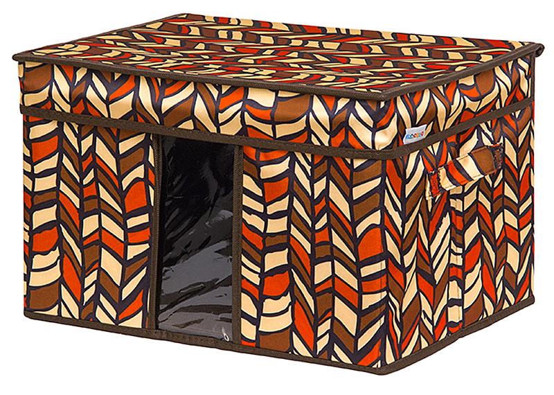 Кофр для хранения вещей EL Casa Африка, складной, 40 х 30 х 25 смUP210DFКофр для хранения с ручками. Прозрачная вставка позволяет видеть содержимое кофра. Благодаря эстетичному дизайну кофр гармонично смотрится в любом интерьере.