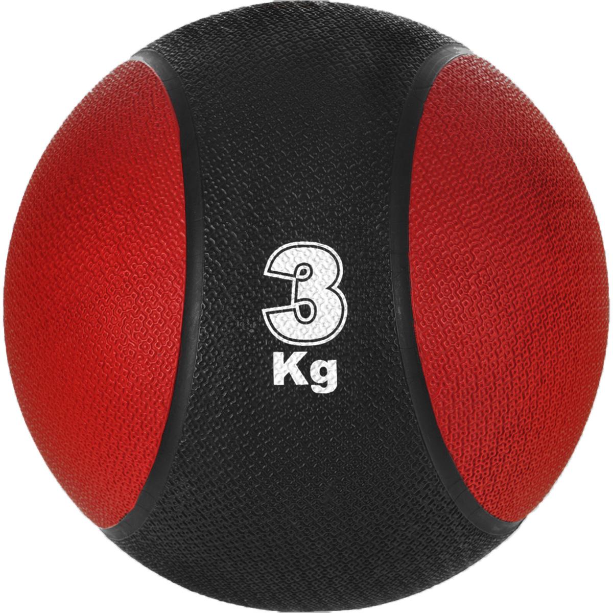 Медицинбол Start Up MBR3, цвет: черный, красный, 3 кг, 22 см527Медицинбол Start Up MBR3 - тренировочный мяч, который прекрасно подходит для занятий фитнесом, аэробикой или ЛФК (лечебной физкультурой). Шероховатая поверхность не дает ему выскользнуть из рук. Предназначен для укрепления мышц плечевого пояса, спины, рук и ног. Мяч выполнен из резины, наполнен также резиной.