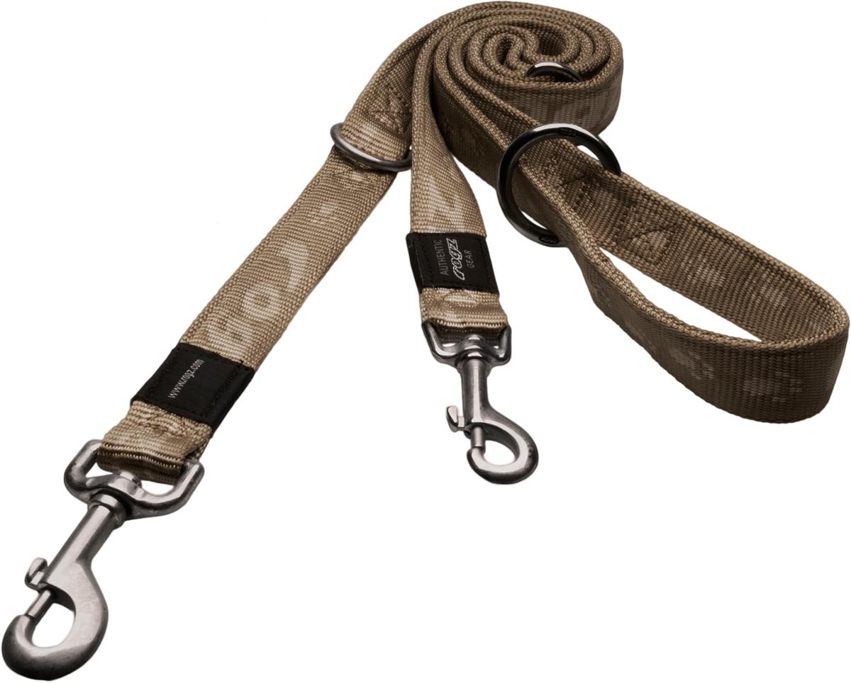 Поводок перестежка для собак Rogz Alpinist, цвет: золотистый, ширина 1,1 см. Размер S0120710Особо мягкая, но очень прочная лента обеспечит безопасность на прогулке даже самым активным собакам.Все соединения деталей имеют специальную дополнительную строчку для большей прочности.Выполненые специально по заказу ROGZ литые кольца гальванически хромированы, что позволяет избежать коррозии и потускнения изделия.Многофункциональный поводок-перестежку можно использовать как: поводок для двух собак; короткий, средний или удлиненный поводок (1м, 1.3м, 1.6м); поводок через плечо; временную привязь. Полотно: нейлоновая тесьма. Пряжки: ацетиловый пластик. Кольца: цинковое литье.