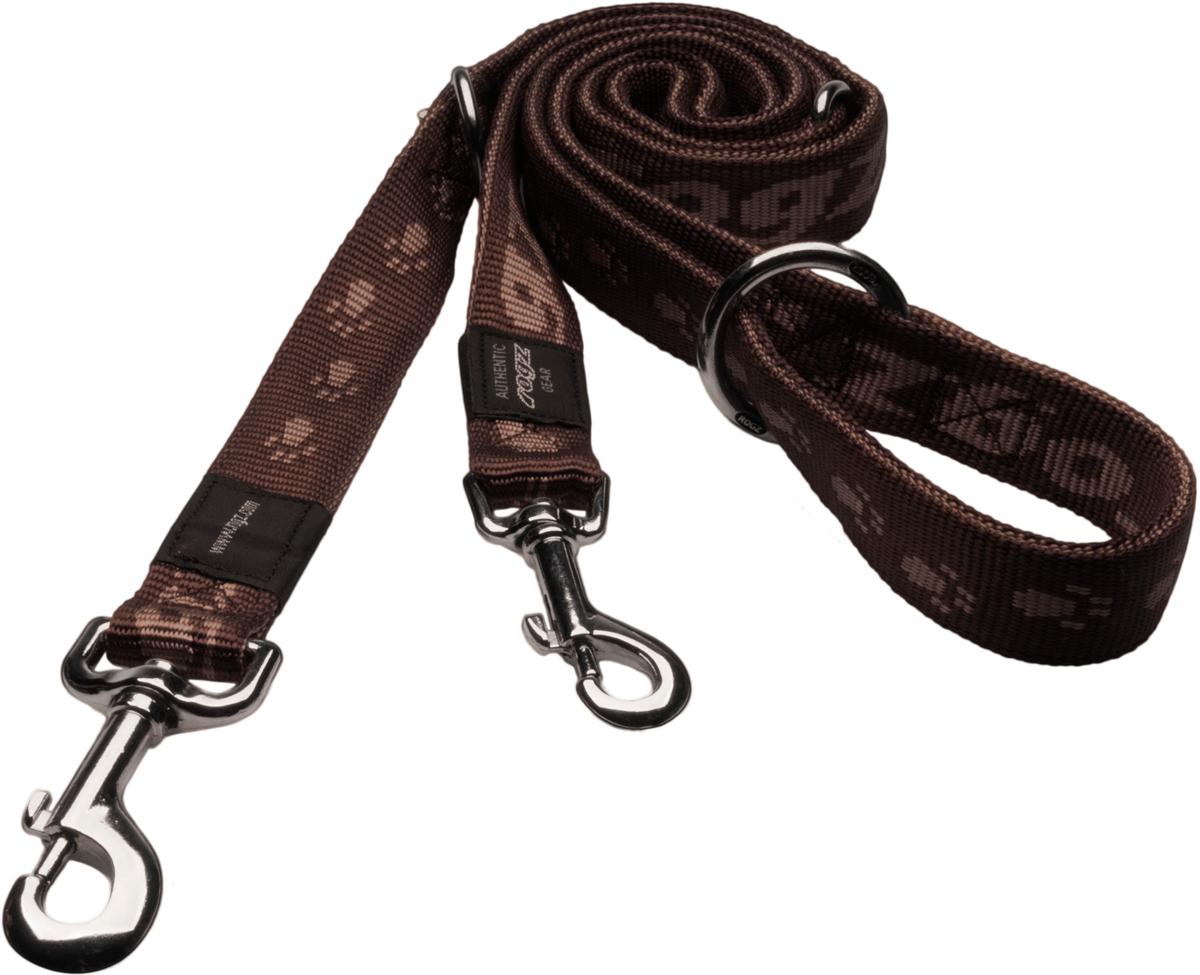 Поводок перестежка для собак Rogz Alpinist, цвет: коричневый, ширина 1,6 см. Размер M0120710Особо мягкая, но очень прочная лента обеспечит безопасность на прогулке даже самым активным собакам.Все соединения деталей имеют специальную дополнительную строчку для большей прочности.Выполненые специально по заказу ROGZ литые кольца гальванически хромированы, что позволяет избежать коррозии и потускнения изделия.Многофункциональный поводок-перестежку можно использовать как: поводок для двух собак; короткий, средний или удлиненный поводок (1м, 1.3м, 1.6м); поводок через плечо; временную привязь. Полотно: нейлоновая тесьма. Пряжки: ацетиловый пластик. Кольца: цинковое литье.