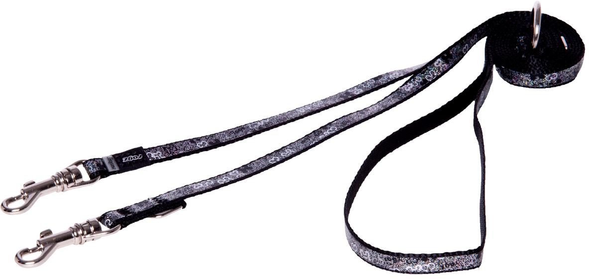 Поводок перестежка для собак Rogz Trendy, ширина 0,8 см. Размер XS. HLM520A0120710Веселый и яркий дизайн.Прочность и гибкость.Светоотражающие материалы для обеспечения лучшей видимости собаки в темное время суток.Многофункциональный поводок-перестежку можно использовать как: поводок для двух собак; короткий, средний или удлиненный поводок (1м, 1.3м, 1.6м); поводок через плечо; временную привязь.Материалы: 100 % полиэстер, полиуретан,металл, пластик. Полотно: 100% полиэстер, полиуретан. Пряжка: металл, пластик