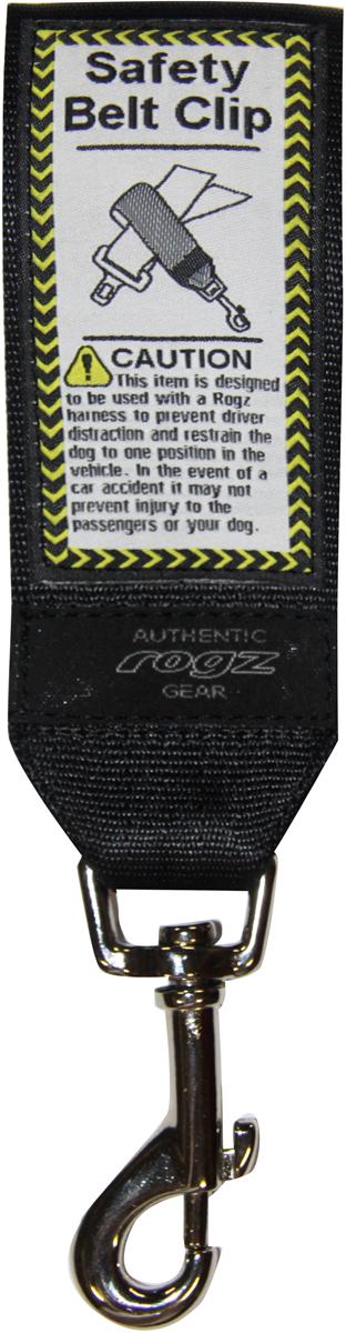 Ремень безопасности для животных Rogz Utility, цвет: черный, ширина 4,5 смSC-FD421005Легкость в применении.Обеспечит собаке комфорт.Долговечность использования.Материал пряжек: цинковое литье под давлением.Полотно: нейлоновая тесьма. Полотно: нейлоновая тесьма. Пряжки: цинковое литье под давлением.