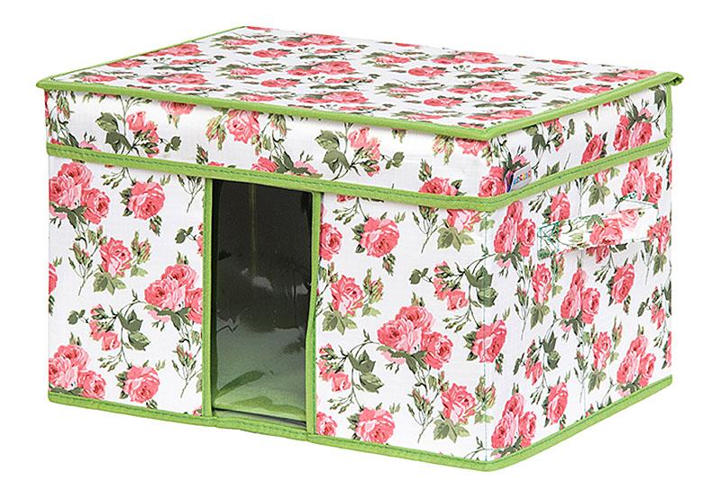 Кофр для хранения вещей EL Casa Розовый рассвет, складной, 40 х 30 х 25 см19201Кофр для хранения с ручками. Прозрачная вставка позволяет видеть содержимое кофра. Благодаря эстетичному дизайну кофр гармонично смотрится в любом интерьере.