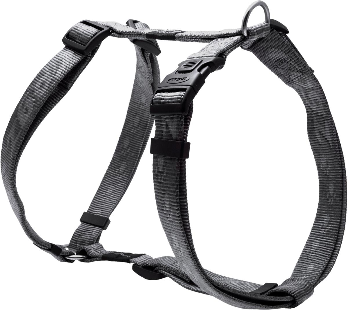 Шлейка для собак Rogz Alpinist, цвет: серый, ширина 2,5 см. Размер XL0120710Особо мягкая, но очень прочная лента обеспечит безопасность на прогулке даже самым активным собакам.Все соединения деталей имеют специальную дополнительную строчку для большей прочности.Специальная конструкция пряжки Rog Loc - очень крепкая (система Fort Knox). Замок может быть расстегнут только рукой человека.Технология распределения нагрузки позволяет снизить нагрузку на пряжки, изготовленные из титанового пластика, с помощью правильного и разумного расположения грузовых колец, благодаря чему, даже при самых сильных рывках, изделие не рвется и не деформируется.Выполненные специально по заказу ROGZ литые кольца гальванически хромированы, что позволяет избежать коррозии и потускнения изделия. Полотно: нейлоновая тесьма. Пряжки: ацетиловый пластик. Кольца: цинковое литье.