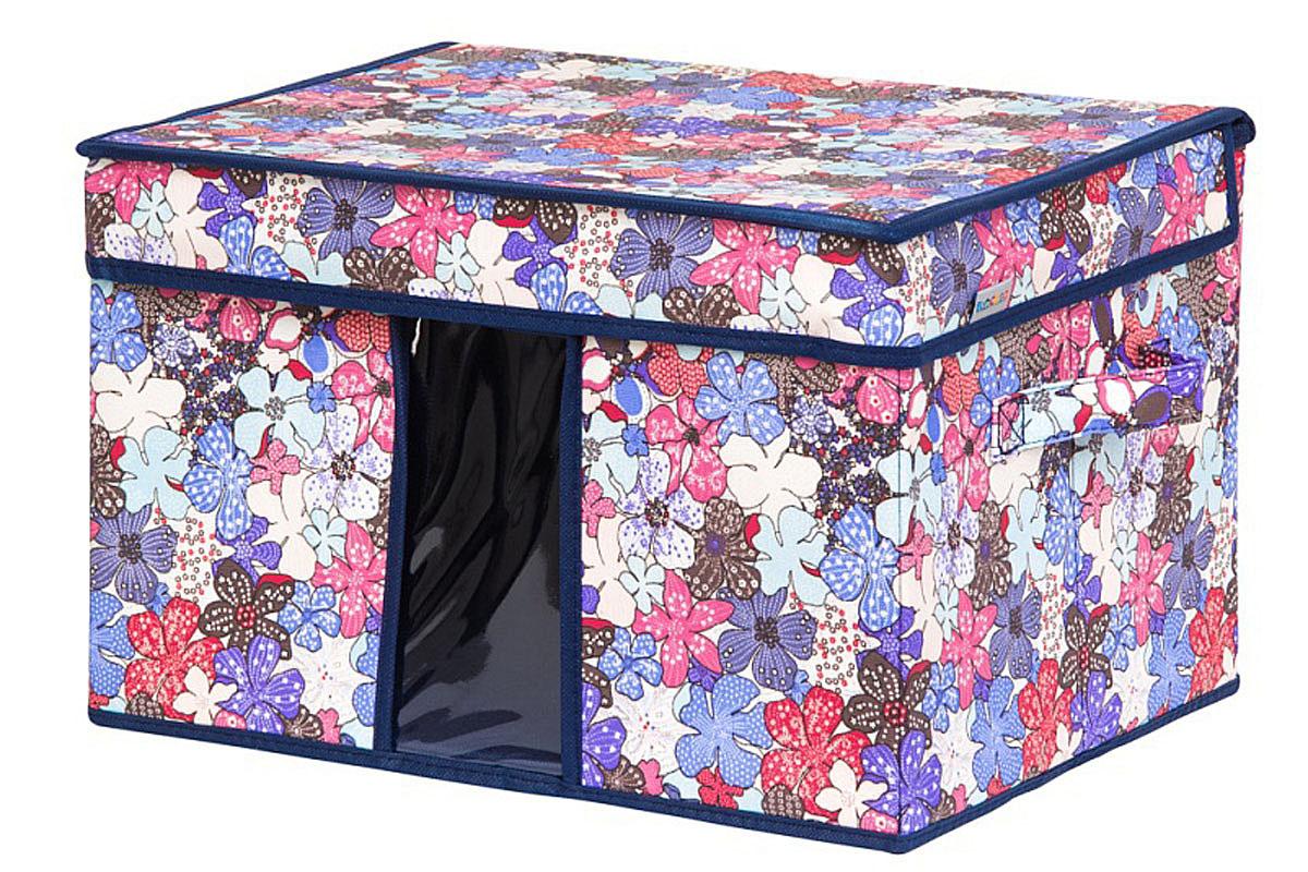 Кофр для хранения вещей EL Casa Цветочное созвездие, складной, 40 х 30 х 25 смUP210DFКофр для хранения с ручками. Прозрачная вставка позволяет видеть содержимое кофра. Благодаря эстетичному дизайну кофр гармонично смотрится в любом интерьере.