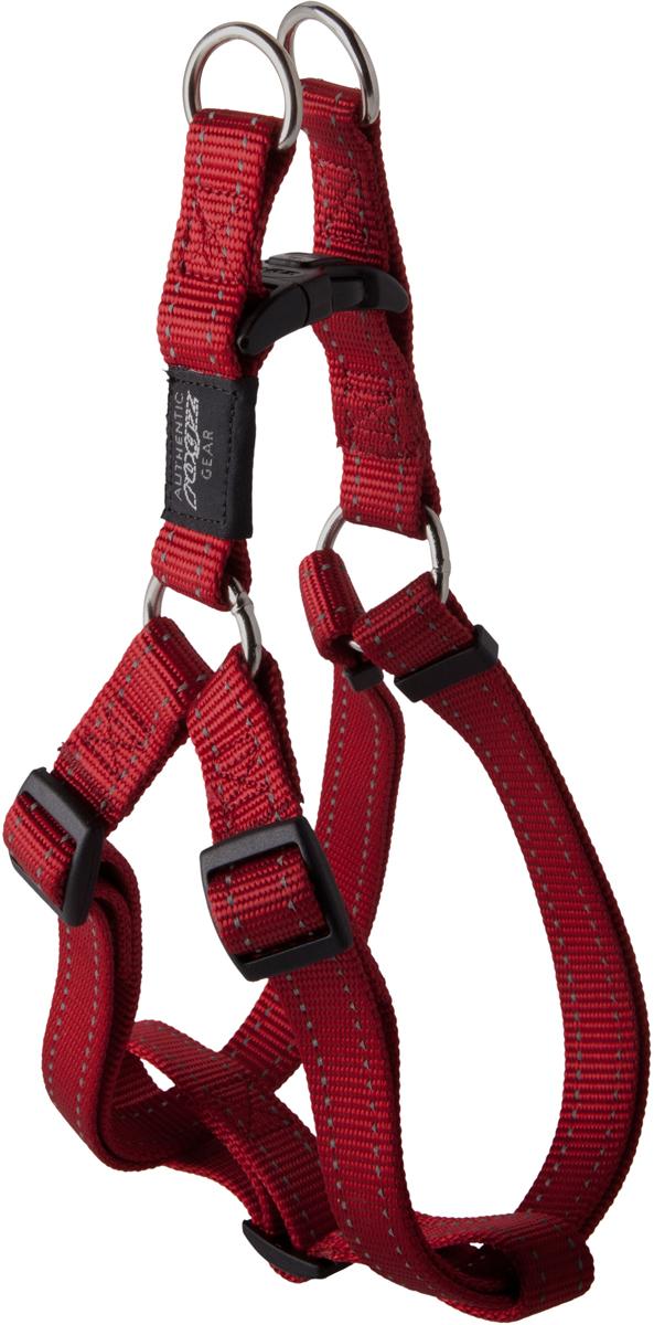 Шлейка для собак Rogz Utility , цвет: красный, ширина 2 см. Размер L. SSJ060120710Видимость ночью. Светоотражающая нить, вплетенная в нейлоновую ленту для обеспечения лучшей видимости собаки в темное время суток.Специальная конструкция пряжки Rog Loc - очень крепкая (система Fort Knox). Замок может быть расстегнут только рукой человека.Технология распределения нагрузки позволяет снизить нагрузку на пряжки, изготовленные из титанового пластика, с помощью правильного и разумного расположения грузовых колец, благодаря чему, даже при самых сильных рывках, изделие не рвется и не деформируется.Особые контурные пластиковые компоненты.Выполненные специально по заказу ROGZ литые кольца гальванически хромированы, что позволяет избежать коррозии и потускнения изделия. Полотно:нейлоновая тесьма, светоотражающая нить.Пряжки: ацетиловый пластик. Кольца: цинковое литье.