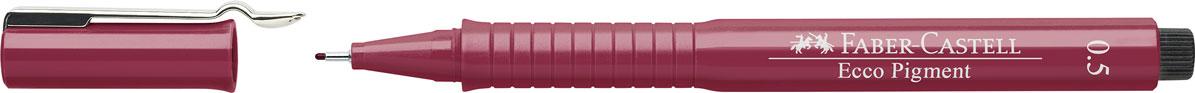 Faber-Castell Ручка капиллярная Ecco Pigment цвет красный 10 шт 16652172523WD идеальны для письма, рисования, набросков пигментные черные чернила водо- и светоустойчивые позволяют рисование с линейкой и по шаблону длинный кончик с металлическим корпусом эргономичная область захвата металлический клип 9 типов толщины линии