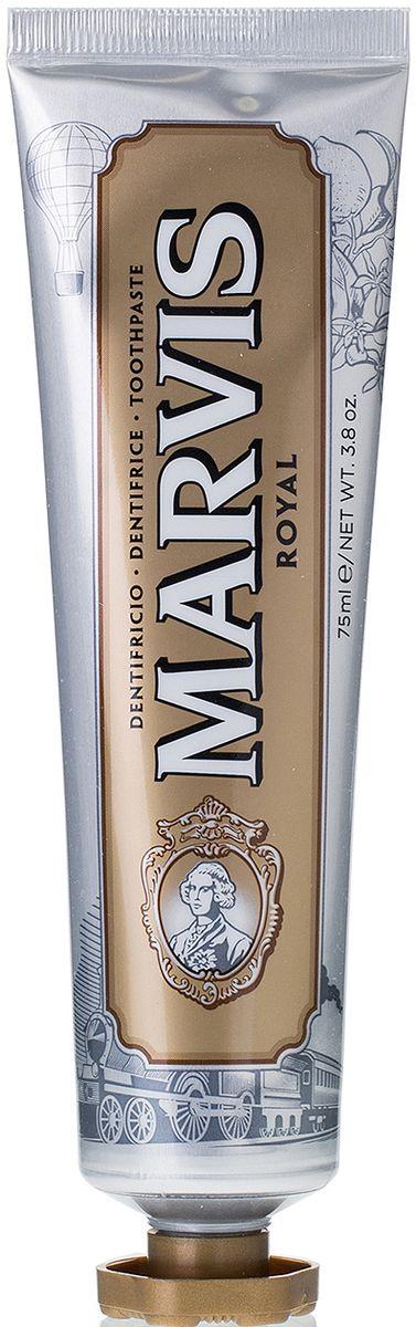 Marvis Зубная паста Royal, 75 млMP59.4DОткройте Вкус вместе с Marvis. Роскошные и элегантные путешествия на ВОСТОЧНОМ ЭКСПРЕССЕ вдохновили нас на создание зубной пасты «РОЙЯЛ» с уникальным утонченным вкусом, сочетающим ароматы масла итальянского лимона, мандарина, экстракта розы и мускатного ореха. Это головокружительно пикантное сочетание, усиленное мятой, обеспечивает абсолютно новый сенсорный опыт.