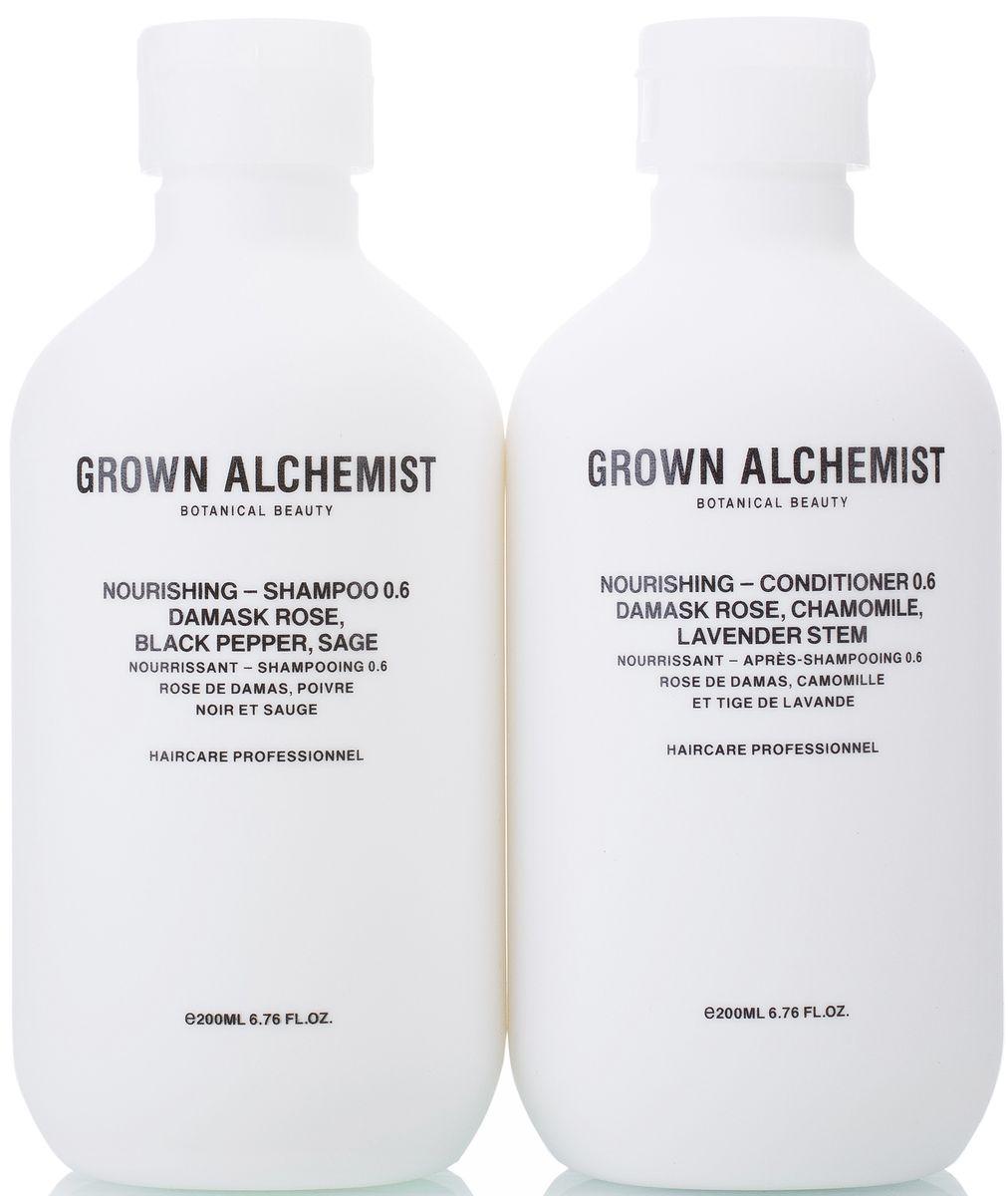 Grown Alchemist Набор для волос Питательный: кондиционер, шампунь, 2 х 200 млGESS-131В набор входит: Питательный шампунь 200 мл, Питательный кондиционер 200 мл