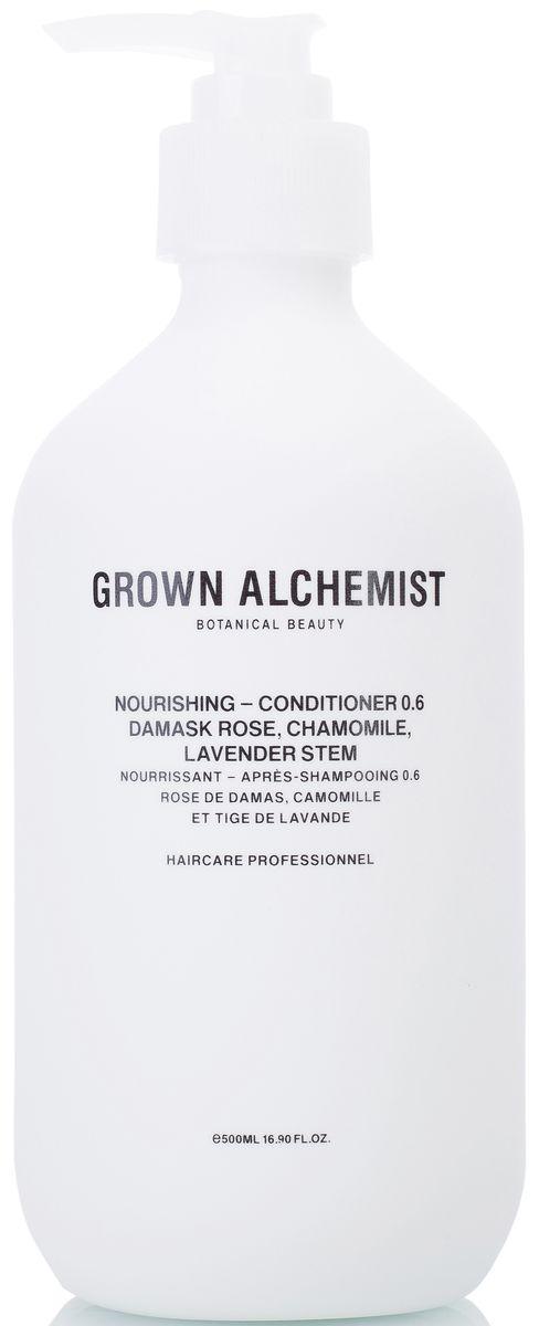 Grown Alchemist Питательный кондиционер для волос, 500 млFS-00897Высокоэффективный питательный кондиционер, идеальный для ежедневного использования. Помогает сохранять и усиливать здоровый блеск волос, их силу, послушность и мягкость, при этом обеспечивает защиту волосяного стержня.