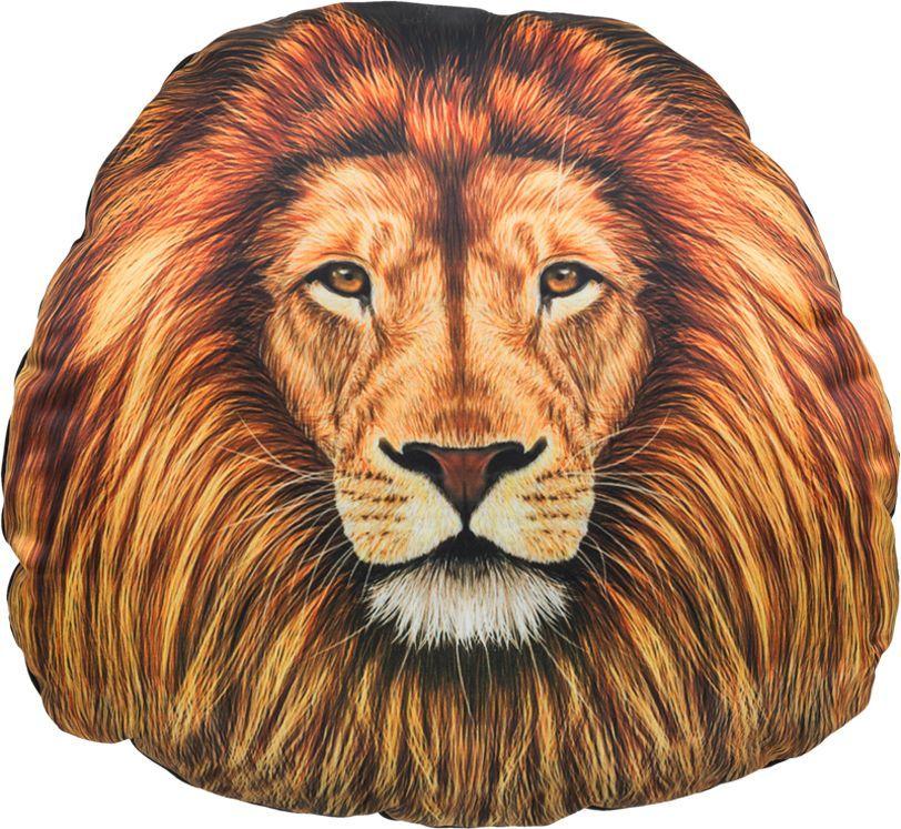 Подголовник GiftnHome Лев, 30 х 31 см531-401Изделие изготовлено из искусственного шелка - атласа! Наполнитель: холлофайбер, наволочка на молнии, крепятся на резинки.