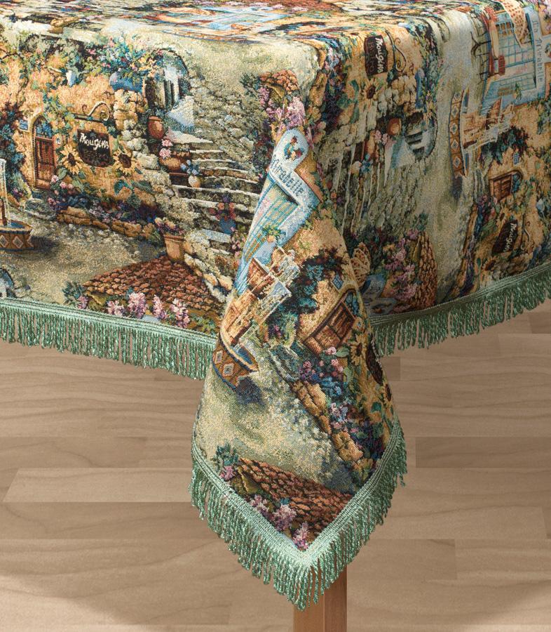 Скатерть Les Gobelins Jardin DEden, прямоугольная, 150 х 190 см531-401Прямоугольная скатерть Les Gobelins Jardin DEden с ярким рисунком привлечет к себе внимание и органично впишется в интерьер комнаты. Изделие изготовлено из высококачественной ткани гобелен и оформлено бахромой и кисточками. Необычайная красота сочетается в этой скатерти с высокой прочностью и долговечностью, а свойство гобелена по-разному проявлять себя в зависимости от освещения помещения позволяет открывать все новые и новые детали, которые, как казалось, раньше скрывал гобелен.Красочная и приятная на ощупь скатерть сделает любое застолье торжественным, а интерьер - уютным и своеобразным.Расположение рисунка на скатерти соответствует фотографии.Состав материала:49% хлопок, 51% полиэстер.