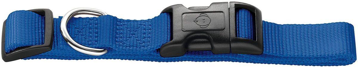 Ошейник Hunter Smart. Ecco, нейлоновый, для собак, размер: XS (22-34 см), цвет: синий0120710Нейлоновый ошейник для собак мелких и средних пород Ecco ХS от Hunter (Хантер) – отличное приобретение для Вашего питомца! Он подойдет для собак с обхватом шеи – 22-34 см, его ширина – 10 мм. Изделие очень стильное и по-настоящему притягивающее взгляд: ошейник сделан из качественного нейлона. Оснащен хромированной фурнитурой. На ошейнике предусмотрена удобная пластиковая застежка и пластиковый бегунок, с помощью которого легко отрегулировать изделие по размеру и зафиксировать его на шее питомца.