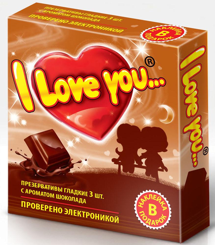 I Love You презервативы с ароматом шоколада, 3 штCRS-80273547Гладкие презервативы нового поколения в силиконовой смазке с накопителем. Произведены из латекса, проверены электроникой. Только для одноразового использования. Презервативы I LOVE YOU при правильном использовании, обеспечивают надёжную защиту от нежелательной беременности и заболеваний передающихся половым путём в том числе и ВИЧ. Ни одно средство предохранения не гарантирует 100% защиты. Перед использованием необходимо ознакомится с инструкцией внутри упаковки. Фасовка презервативов I LOVE YOU № 3: в одном блоке (шоу-боксе) 24 упаковок, в каждой упаковке 3 презерватива.