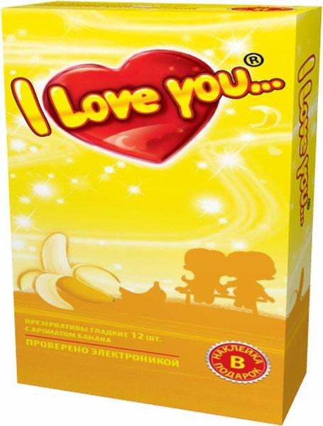 I Love You презервативы с ароматом банана, 12 шт5010777142037Гладкие презервативы нового поколения в силиконовой смазке с накопителем. Произведены из латекса, проверены электроникой. Только для одноразового использования. Презервативы I LOVE YOU при правильном использовании, обеспечивают надёжную защиту от нежелательной беременности и заболеваний передающихся половым путём в том числе и ВИЧ. Ни одно средство предохранения не гарантирует 100% защиты. Перед использованием необходимо ознакомится с инструкцией внутри упаковки. Фасовка презервативов I LOVE YOU № 12: в одном блоке (шоу-боксе) 12 упаковок, в каждой упаковке 12 презервативов.