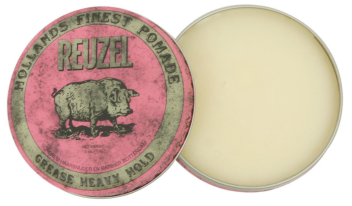 Reuzel помада для укладки волос, розовая банка 113грFS-00897Помада REUZEL GREASE розовая: жёсткая фиксацияReuzel Grease в розовой банке - это помада на основе воска и масла безупречного качества. Даёт мягкое среднее сияние и сверхсильную фиксацию. Reuzel Grease Pomade идеально подходит как для классики: помпадур, квифф, так и для новых смелых форм. Помада подходит для нормальных и толстых волос, обеспечивает сверхжёсткую фиксацию, позволяя придавать причёске любую форму. Розовый REUZEL в духе классических помад пахнет яблоком и сальсой.- Сверхсильная фиксация как у геля- Средний блеск- На основе воска и масла безупречного качества- Справляется с самыми кудрявыми, плотными и непослушными волосами- Превосходная прическа весь день