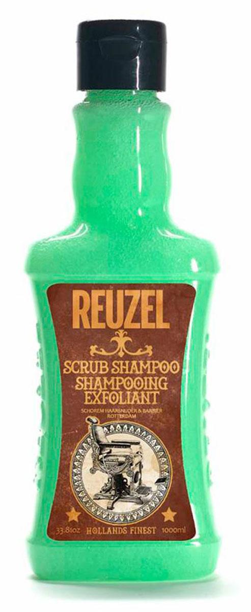 Reuzel шампунь-скраб для волос 1000млFS-00897Очищающий шампунь с эффектом скраба для кожи головы. Уникальная комбинация очищающих и отшелушивающих компонентов с тонизирующим настоем гамамелиса, листьев крапивы, розмарина и корня хвоща эффективно очищает волосы и кожу головы от стайлинга, избытка кожного жира и других загрязнений, бережно относясь к волосам и коже головы. Позволяет долго сохранять ощущение свежести.