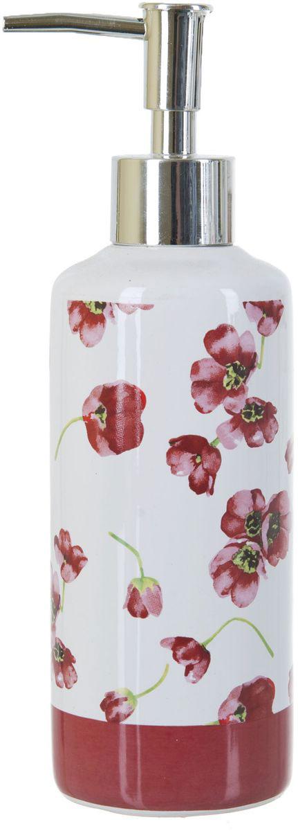 Диспенсер для жидкого мыла ENS Group Красные тюльпаны, 300 мл391602Диспенсер для жидкого мыла ENS GROUP Красные тюльпаны имеет емкость из прочной глазурованной керамики. Металлический дозатор позволяет легко выдавливать нужное количество жидкого мыла. Изделие красиво дополнит интерьер ванной комнаты и создаст особую атмосферу уюта и комфорта.