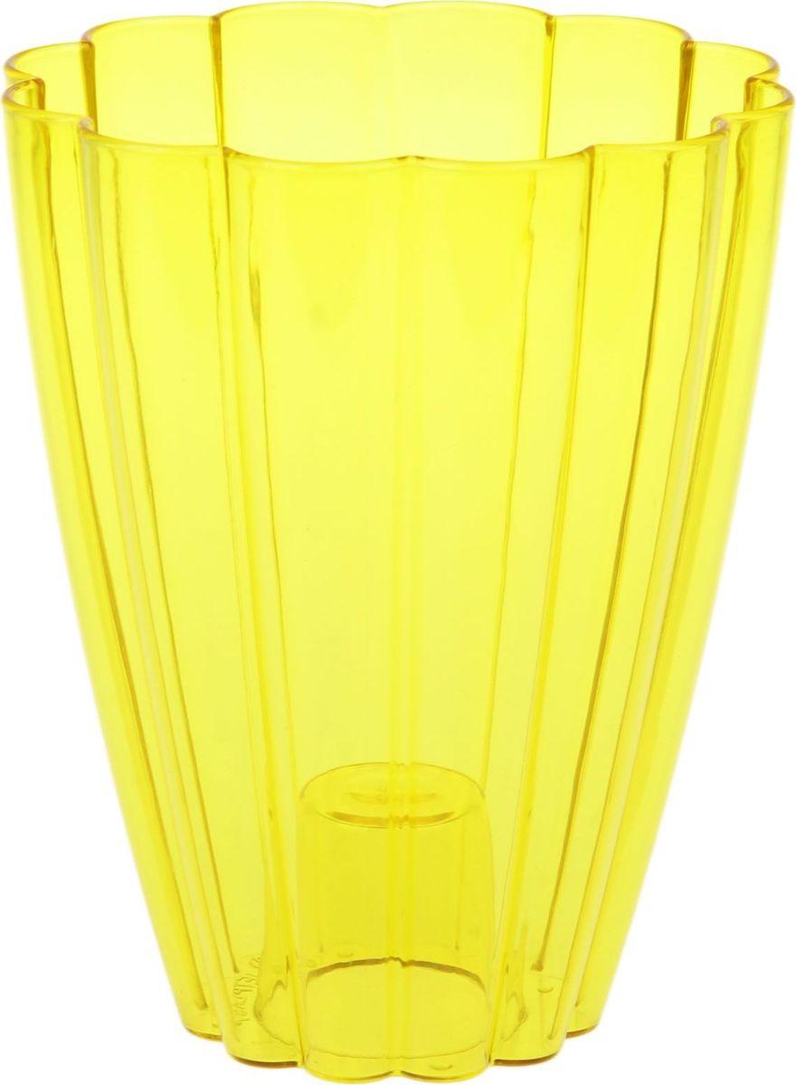 Кашпо JetPlast Тюльпан, цвет: желтый, 1,45 л531-401Любой, даже самый современный и продуманный интерьер будет не завершённым без растений. Они не только очищают воздух и насыщают его кислородом, но и заметно украшают окружающее пространство. Такому полезному члену семьи просто необходимо красивое и функциональное кашпо, оригинальный горшок или необычная ваза! Мы предлагаем - Кашпо 1,45 л Тюльпан, цвет желтый! Оптимальный выбор материала пластмасса! Почему мы так считаем? -Малый вес. С лёгкостью переносите горшки и кашпо с места на место, ставьте их на столики или полки, подвешивайте под потолок, не беспокоясь о нагрузке. -Простота ухода. Пластиковые изделия не нуждаются в специальных условиях хранения. Их легко чистить достаточно просто сполоснуть тёплой водой. -Никаких царапин. Пластиковые кашпо не царапают и не загрязняют поверхности, на которых стоят. -Пластик дольше хранит влагу, а значит растение реже нуждается в поливе. -Пластмасса не пропускает воздух корневой системе растения не грозят резкие перепады температур. -Огромный выбор форм, декора и расцветок вы без труда подберёте что-то, что идеально впишется в уже существующий интерьер. Соблюдая нехитрые правила ухода, вы можете заметно продлить срок службы горшков, вазонов и кашпо из пластика: -всегда учитывайте размер кроны и корневой системы растения (при разрастании большое растение способно повредить маленький горшок)-берегите изделие от воздействия прямых солнечных лучей, чтобы кашпо и горшки не выцветали-держите кашпо и горшки из пластика подальше от нагревающихся поверхностей. Создавайте прекрасные цветочные композиции, выращивайте рассаду или необычные растения, а низкие цены позволят вам не ограничивать себя в выборе.