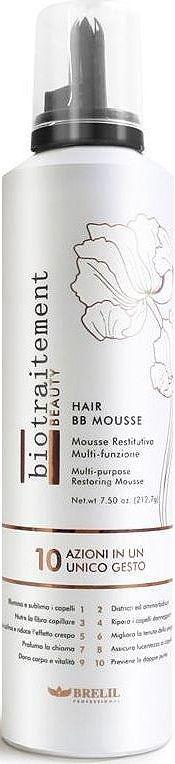 Brelil Hair ВВ Mousse Мусс с эффектом кондиционирования и восстановления всех типов волос 250 мл4605845001470Hair BB Mousse - это мусс для лечения, восстановления и реструктуризация волос! Он оживляет волосы, распутывает и смягчает их, питает, восстанавливает, делает послушными. Улучшает стиль волос, придает им приятный аромат и эластичность. Помогает держать прическе объем и форму. Борется с сечением кончиков.