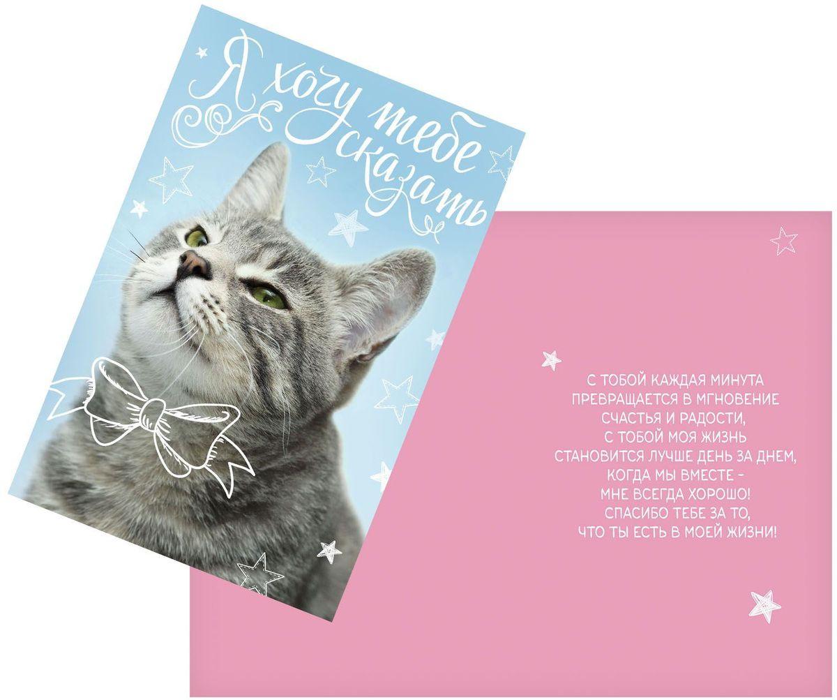 Открытка Дарите cчастье Спасибо за то,что ты есть, 12 х 18 см93470_белыйАтмосферу праздника создают детали: свечи, цветы, бокалы, воздушные шары и поздравительные открытки — яркие и весёлые, романтичные и нежные, милые и трогательные. Расскажите о своих чувствах дорогому для вас человеку, поделитесь радостью с близкими и друзьями. Открытка с креативным дизайном вам в этом поможет.