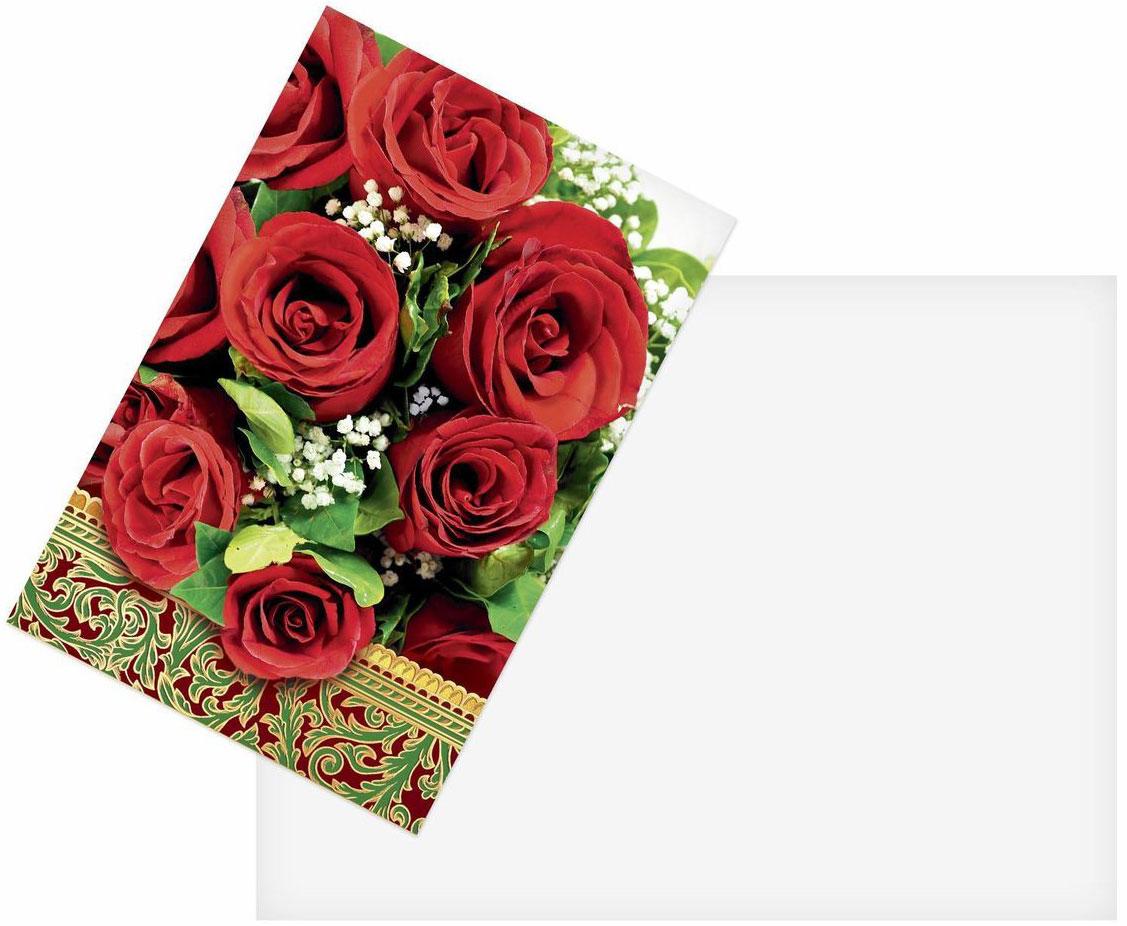 Открытка Дарите cчастье Красные розы, 12 х 18 смUP210DFАтмосферу праздника создают детали: свечи, цветы, бокалы, воздушные шары и поздравительные открытки — яркие и весёлые, романтичные и нежные, милые и трогательные. Расскажите о своих чувствах дорогому для вас человеку, поделитесь радостью с близкими и друзьями. Открытка с креативным дизайном вам в этом поможет.