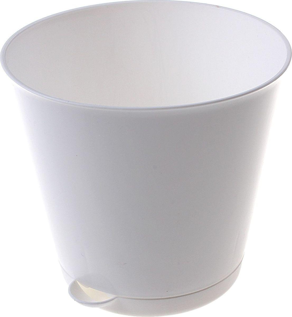 Горшок для цветов InGreen Крит, с системой прикорневого полива, цвет: белый, 0,7 л531-401Цветочный горшок «Крит» - это поиск нового, в основе которого лежит целесообразность. Горшок лаконичный и богат яркими цветовыми решениями, отличается функциональностью. Специальная конструкция обеспечивает вентиляцию в корневой системе растения, а дренажная решетка позволяет выходить лишней влаге из почвы. Крепёжные отверстия и штыри прочно крепят подставку к горшку. Прикорневой полив растения осуществляется через удобный носик.