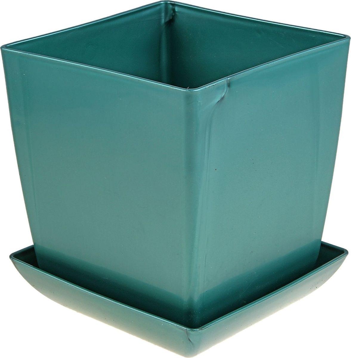Горшок для цветов Мегапласт Квадрат, с поддоном, цвет: бирюзовый перламутр, 3,5 л09840-20.000.00Любой, даже самый современный и продуманный интерьер будет не завершённым без растений. Они не только очищают воздух и насыщают его кислородом, но и заметно украшают окружающее пространство. Такому полезному члену семьи просто необходимо красивое и функциональное кашпо, оригинальный горшок или необычная ваза! Мы предлагаем - Горшок для цветов с поддоном 16х16 см Квадрат 3,5 л, цвет бирюзовый перламутр! Оптимальный выбор материала пластмасса! Почему мы так считаем? Малый вес. С лёгкостью переносите горшки и кашпо с места на место, ставьте их на столики или полки, подвешивайте под потолок, не беспокоясь о нагрузке. Простота ухода. Пластиковые изделия не нуждаются в специальных условиях хранения. Их легко чистить достаточно просто сполоснуть тёплой водой. Никаких царапин. Пластиковые кашпо не царапают и не загрязняют поверхности, на которых стоят. Пластик дольше хранит влагу, а значит растение реже нуждается в поливе. Пластмасса не пропускает воздух корневой системе растения не грозят резкие перепады температур. Огромный выбор форм, декора и расцветок вы без труда подберёте что-то, что идеально впишется в уже существующий интерьер. Соблюдая нехитрые правила ухода, вы можете заметно продлить срок службы горшков, вазонов и кашпо из пластика: всегда учитывайте размер кроны и корневой системы растения (при разрастании большое растение способно повредить маленький горшок)берегите изделие от воздействия прямых солнечных лучей, чтобы кашпо и горшки не выцветалидержите кашпо и горшки из пластика подальше от нагревающихся поверхностей. Создавайте прекрасные цветочные композиции, выращивайте рассаду или необычные растения, а низкие цены позволят вам не ограничивать себя в выборе.