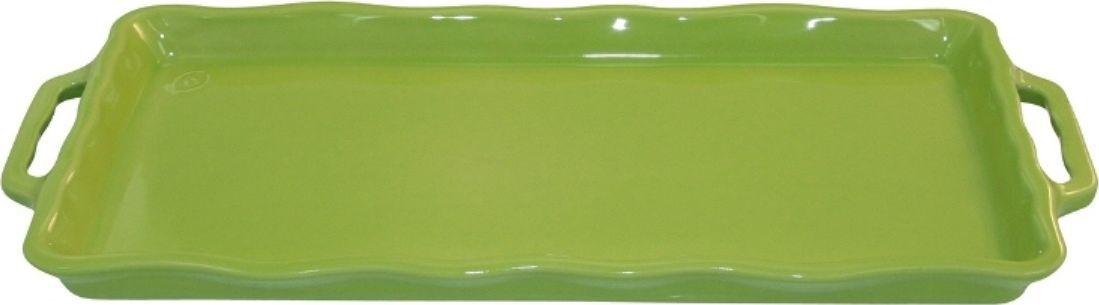 Форма для выпечки Appolia Delices, цвет: лаймовый, 41 х 18,2 х 3,1 смCM000001328Благодаря большому разнообразию изящных форм и широкой цветовой гамме, коллекция DELICES предлагает всевозможные варианты приготовления блюд для себя и гостей. Выбирайте цвета в соответствии с вашими желаниями и вашей кухне. Закругленные углы облегчают чистку. Легко использовать. Большие удобные ручки. Прочная жароустойчивая керамика экологична и изготавливается из высококачественной глины. Прочная глазурь устойчива к растрескиванию и сколам, не содержит свинца и кадмия. Глина обеспечивает медленный и равномерный нагрев, деликатное приготовление с сохранением всех питательных веществ и витаминов, а та же долго сохраняет тепло, что удобно при сервировке горячих блюд.