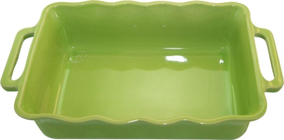 Форма для выпечки Appolia Delices, прямоугольная, цвет: лаймовый, 2,6 л94672Благодаря большому разнообразию изящных форм и широкой цветовой гамме, коллекция DELICES предлагает всевозможные варианты приготовления блюд для себя и гостей. Выбирайте цвета в соответствии с вашими желаниями и вашей кухне. Закругленные углы облегчают чистку. Легко использовать. Большие удобные ручки. Прочная жароустойчивая керамика экологична и изготавливается из высококачественной глины. Прочная глазурь устойчива к растрескиванию и сколам, не содержит свинца и кадмия. Глина обеспечивает медленный и равномерный нагрев, деликатное приготовление с сохранением всех питательных веществ и витаминов, а та же долго сохраняет тепло, что удобно при сервировке горячих блюд.
