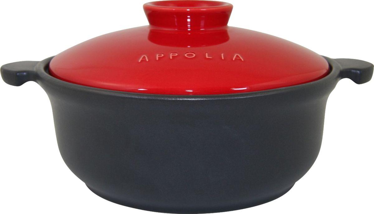 Кастрюля Appolia Terre&Flamme, керамическая, цвет крышки: красный, 3,1 л94672Коллекция Terre&Flamme сочетает в себе современные технологии и вековые традиции. Прочная жароустойчивая керамика экологична и изготавливается из высококачественной глины. Прочная глазурь устойчива к растрескиванию и сколам, не содержит свинца и кадмия. Глина обеспечивает медленный и равномерный нагрев, деликатное приготовление с сохранением всех питательных веществ и витаминов, а та же долго сохраняет тепло, что удобно при сервировке горячих блюд. Подходит для приготовления на открытом огне, на газовых, электрических и других плитах, некоторые модели подходят для использования на индукционных плитах. Необходимо тщательно просушивать после мытья и хранить с приоткрытой крышкой.