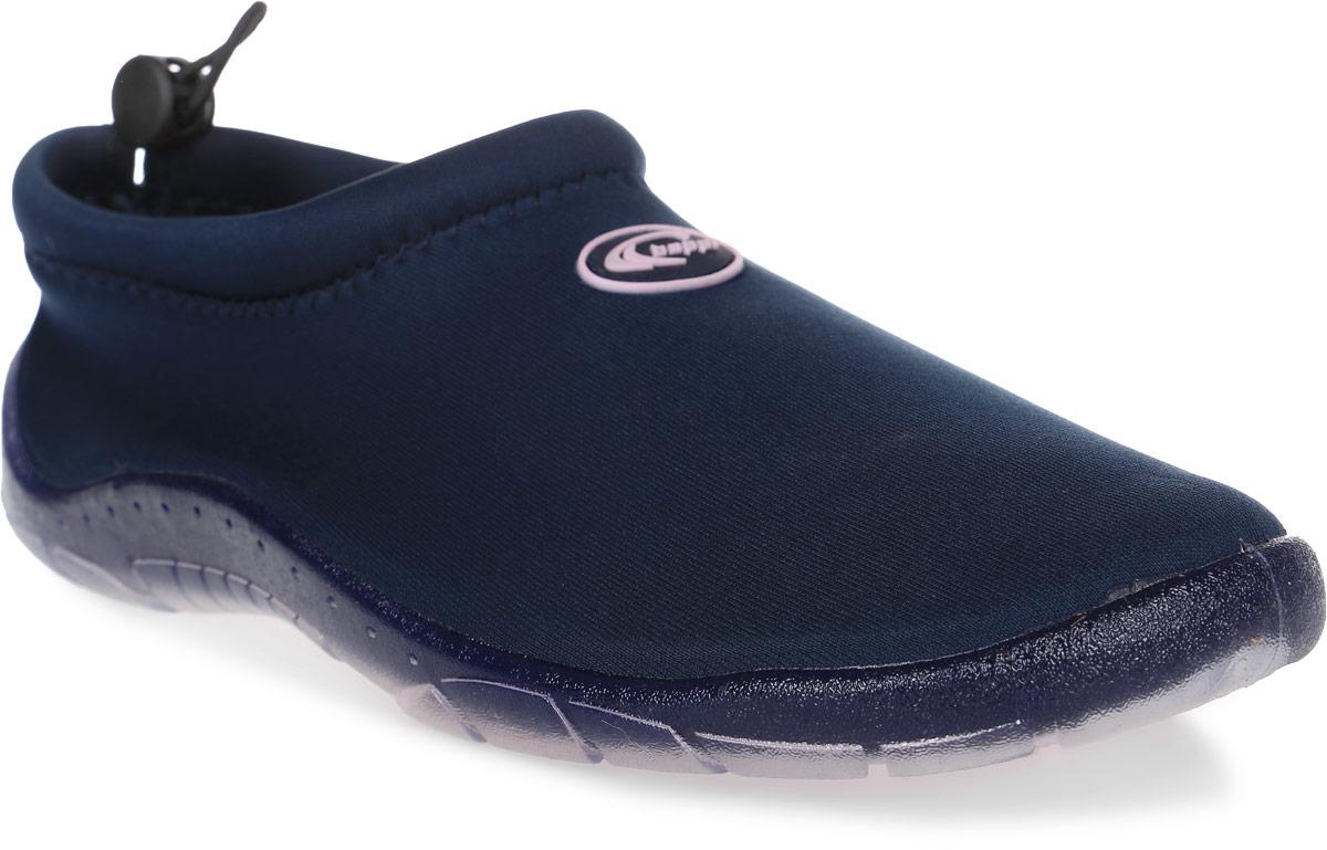 Обувь для кораллов Beppi, цвет: синий. 2156435. Размер 39WP 10802Обувь для кораллов Beppi предназначена для пляжного отдыха, плавания в открытой воде, а также для любых видов водного спорта. Модель выполнена из полиуретана. Резиновая подошва удобна и защищает ступни ног при хождении по каменистому дну, а также от горячего песка при хождении по пляжу. Аквашузы очень легкие и быстро сохнут. Удобный регулируемый шнурок плотно удерживает обувь на ноге, предотвращая ее соскальзывание при плавании и занятиях водными видами спорта.