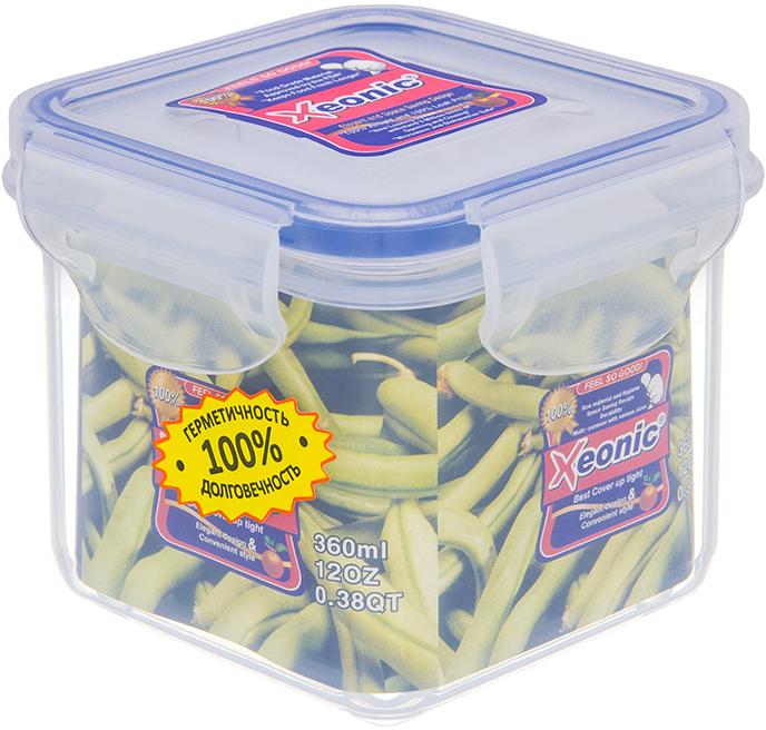 Контейнер Xeonic, цвет: прозрачный, синий, 360 млVT-1520(SR)Пластиковые герметичные контейнеры для хранения продуктов Xeonic произведены из высококачественных материалов, имеют 100% герметичность, термоустойчивы, могут быть использованы в микроволновой печи и в морозильной камере, устойчивы к воздействию масел и жиров, не впитывают запах. Удобны в использовании, долговечны, легко открываются и закрываются, не занимают много места, можно мыть в посудомоечной машине. Размер: 8 см х 8 см х 7 см.