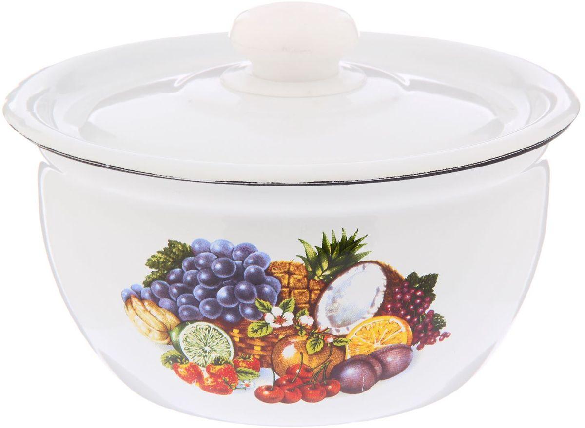 Салатник Epos Тропиканка, с крышкой, 1,5 л115610Эмалированная посудая пригодится вам для быстрого приготовления разных типов блюд. Такая посуда подходит для домашнего и профессионального использования.Достоинства:посуда быстро и равномерно нагревается;корпус стоек к ржавчине;изделие легко отмывается в посудомоечной машине.Благодаря приятным цветам кастрюля удачно впишется в любой дизайн интерьера. Наилучшее качество покрытия достигается за счёт того, что посуда проходит обжиг при температуре до 800 градусов.Чтобы предмет сохранял наилучшие эксплуатационные свойства, соблюдайте правила ухода:избегайте ударов и падений;не пользуйтесь высокоабразивными чистящими средствами;не допускайте резких перепадов температуры.Посуда подходит для долговременного хранения пищи.
