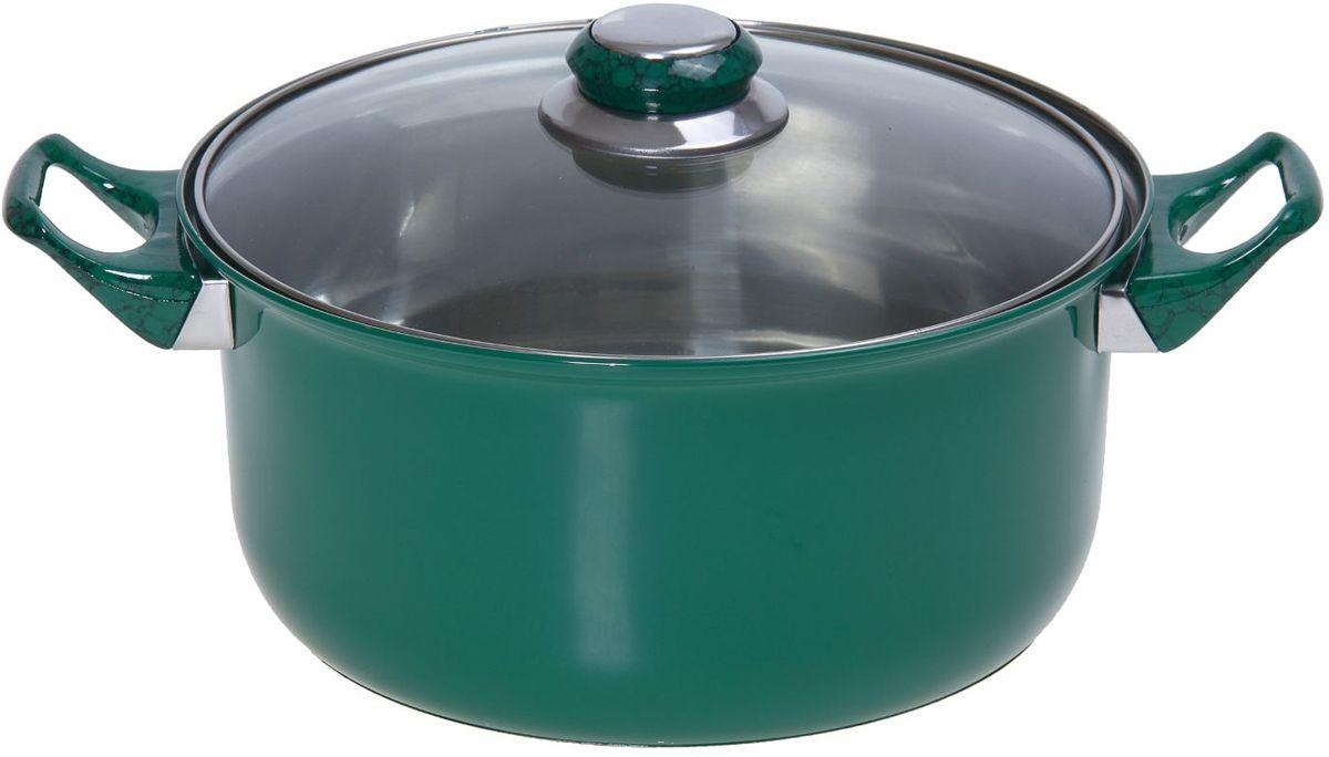 Кастрюля Доляна Элит, с крышкой, цвет: зеленый, 3,6 л94672За последние несколько лет посуда из нержавеющей стали приобрела наибольшую популярность среди покупателей. А знаете почему? Посуда из нержавейки отлично сохраняет тепло пищи продолжительное время, не влияет на вкус и цвет еды, так как не вступает во взаимодействие с кислотами, содержащимися в ней.Не убедили?Нержавеющая сталь является самой гигиеничной поверхностью, которая не имеет пор и трещин, где могут скапливаться бактерии.Легко очищается от любых загрязнений.Надёжные ручки помогут удержать даже полную кастрюлю.Зеркальная полировка придаёт посуде благородный облик и не требует специального ухода.Посуда из стали не ржавеет и почти не стареет.Кастрюля имеет качественное трёхслойное капсулированное дно толщиной 1,1 мм (0,3 мм сталь/ 0,5 мм алюминий/ 0,3 мм сталь) и высокие стенки (толщина 0,3 мм). Они обеспечивают оптимальное распределение тепла по всей поверхности кастрюли, что препятствует пригоранию еды в процессе готовки. Используйте минимум масла и жира, сохраняйте максимальное количество полезных веществ и натуральный вкус продуктов.А что ещё?Удивит необычной расцветкой, которая притягивает взгляд, поднимает настроение и вызывает желание прикоснуться к прекрасному. Яркий внешний вид сделает кастрюлю желанным подарком на любой праздник.Отдельно стоит отметить существенную экономию электроэнергии или газа: плиту можно выключить раньше, чем пища будет готова. Благодаря накопленному теплу ваше блюдо дойдёт самостоятельно, без дополнительного нагревания.Нержавейка — материал 21 века. Не упустите возможность купить качественную посуду по привлекательной цене!