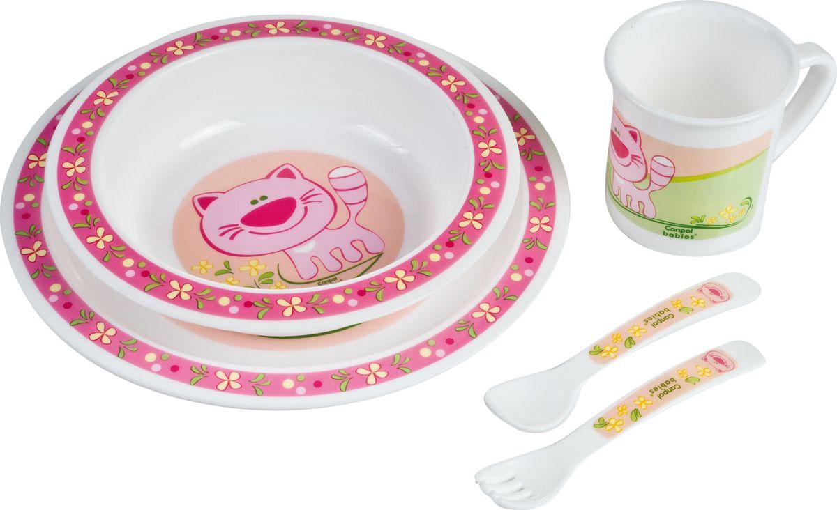 Canpol babies Набор посуды для кормления цвет розовый115610Бренд Canpol babies уже более 25 лет помогает мамам во всем мире растить своих малышей здоровыми и счастливыми.Набор обеденный пластиковый выполнен из полностью безопасных материалов. Яркие красочные рисунки на посуде порадуют малыша и сделают процесс кормления еще более увлекательным. В комплект входит миска глубокая, тарелка, чашка, вилка, ложка.Выпускается в четырех дизайнах: котик, ослик, мишка, лошадка.Допускается разогрев в микроволновой печи.Допускается использование в посудомоечной машине.