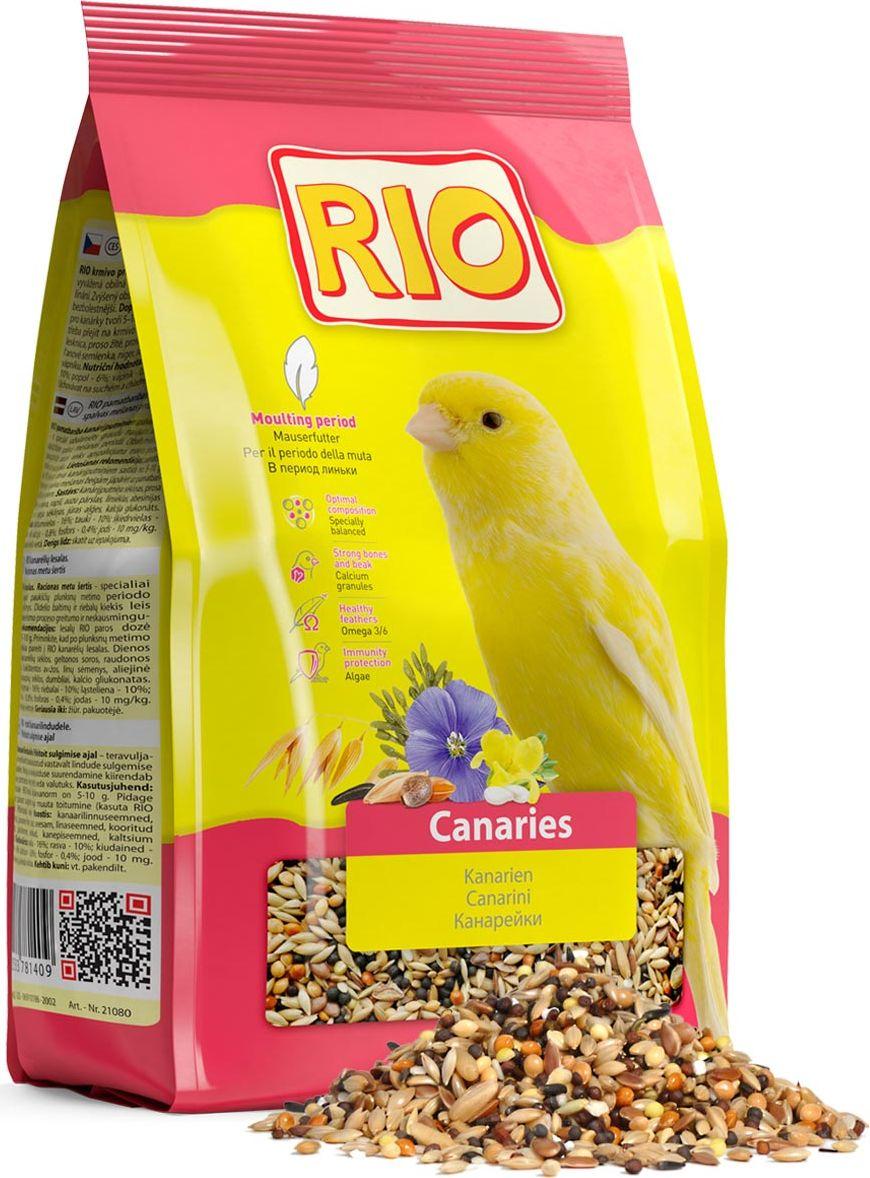 Корм для канареек Rio, в период линьки, 500 г0120710Корм Rio - зерновая смесь, специально сбалансированная в соответствии с потребностями канареек во время линьки. Повышенное содержание белков и жиров в корме делает процесс смены оперения более быстрым и безболезненным. Содержит семена кунжута, богатые кальцием и витаминами.Товар сертифицирован.