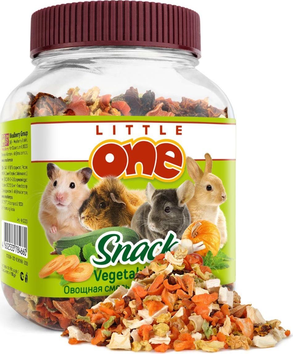 Лакомство для грызунов Little One Овощная смесь, 150 г0120710Лакомство для грызунов Little One Овощная смесь — это полезная и вкусная добавка к основному рациону грызунов и кроликов. Смесь, состоящая из пяти видов сушеных овощей, поможет разнообразить питание зверьков, а также послужит источником витаминов и других полезных веществ.Товар сертифицирован.