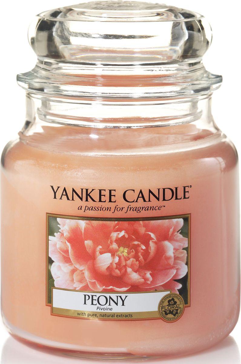 Ароматическая свеча Yankee Candle Пион / Peony, 65-90 чUP210DFАроматическая свеча с потрясающим свежим ароматом настоящих пионов!Верхняя нота: Сладкий ПионСредняя нота: Розовый ПионБазовая нота: Сандал