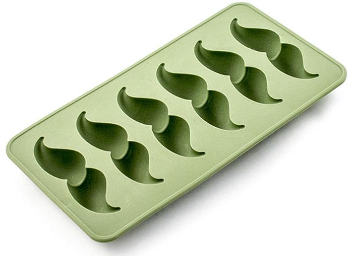 Форма для льда Эврика Усы, цвет: зеленыйVT-1520(SR)Актуальный подарок для любителей вечеринок. Достаточно налить в форму чистую питьевую воду, поставить форму в морозильную камеру, и через полчаса у вас получатся забавные фигурки для украшения коктейлей. Гибкая силиконовая форма позволяет легко извлечь лёд, не сломав хрупкие фигурки. Если перед извлечением обдать дно формочки горячей водой, фигурки легко выскользнут из формы прямо в стакан.Материал: силиконУпаковка: прозрачный пластикBec 0,097 – 0,123кг