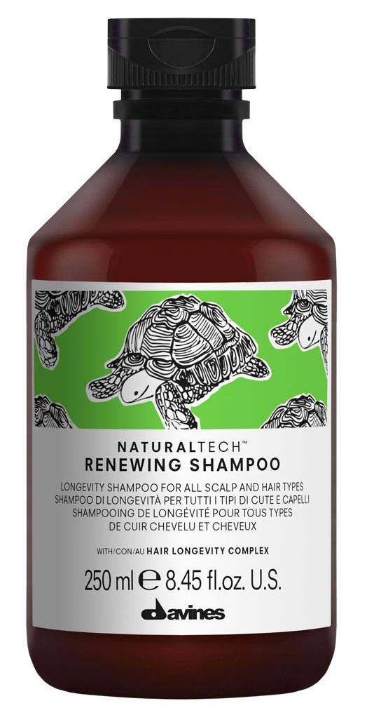 Davines Renewing Shampoo Обновляющий шампунь, 250 мл3078Деликатный шампунь, продлевающий жизненный цикл волос. Помогает поддерживать естественную красоту и здоровое состояние кожи головы и волос.Оставляет волосы плотными и блестящими. Подходит для всех типов волос и кожи головы.Обогащен комплексом активных ингредиентов Hair Longevity Complex.Способ применения: Нанести на влажные волосы, помассировать, оставить на несколько минут, тщательно смыть. При необходимости повторить.Частота применения: так часто, как это необходимо. Объем: 250 мл